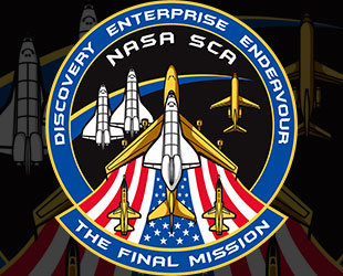 Final Mission Discovery Mission Patch via collectSpace